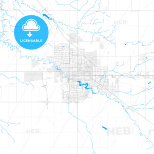 Rich detailed vector map of Regina, Saskatchewan, Canada - HEBSTREITS Sketches