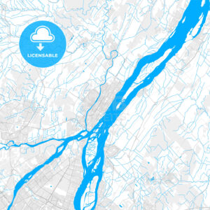 Rich detailed vector map of Repentigny, Quebec, Canada - HEBSTREITS Sketches