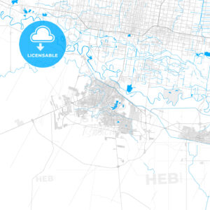 Rich detailed vector map of Reynosa, Tamaulipas, Mexico - HEBSTREITS Sketches