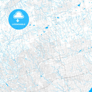 Rich detailed vector map of Richmond Hill, Ontario, Canada - HEBSTREITS Sketches