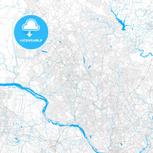 Rich detailed vector map of Rockville, Maryland, USA - HEBSTREITS Sketches