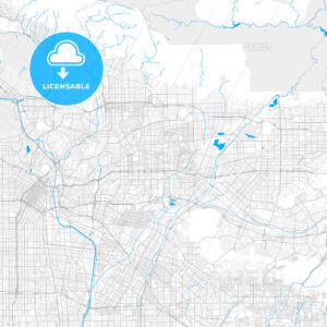 Rich detailed vector map of Rosemead, California, USA - HEBSTREITS Sketches