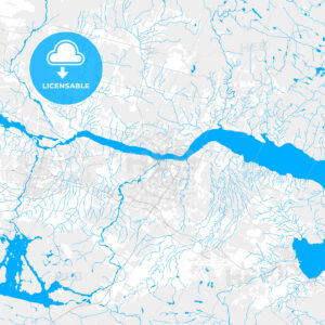 Rich detailed vector map of Saguenay, Quebec, Canada - HEBSTREITS Sketches