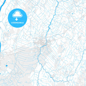 Rich detailed vector map of Saint-Hyacinthe, Quebec, Canada - HEBSTREITS Sketches