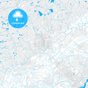 Rich detailed vector map of Saint-Jérôme, Quebec, Canada - HEBSTREITS Sketches
