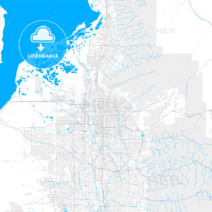 Rich detailed vector map of Salt Lake City, Utah, USA - HEBSTREITS Sketches