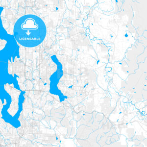 Rich detailed vector map of Sammamish, Washington, USA - HEBSTREITS Sketches