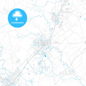 Rich detailed vector map of San Marcos, Texas, USA - HEBSTREITS Sketches