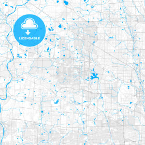 Rich detailed vector map of Schaumburg, Illinois, USA - HEBSTREITS Sketches