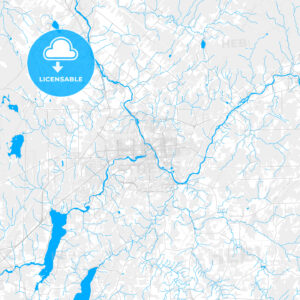 Rich detailed vector map of Sherbrooke, Quebec, Canada - HEBSTREITS Sketches