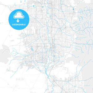 Rich detailed vector map of South Jordan, Utah, USA - HEBSTREITS Sketches