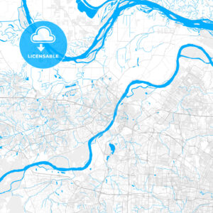 Rich detailed vector map of St. Charles, Missouri, USA - HEBSTREITS Sketches