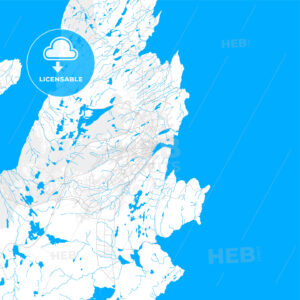 Rich detailed vector map of St. Johns, Newfoundland and Labrador, Canada - HEBSTREITS Sketches