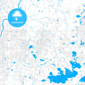 Rich detailed vector map of Strathcona County, Alberta, Canada - HEBSTREITS Sketches