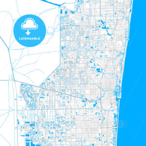 Rich detailed vector map of Sunrise, Florida, USA - HEBSTREITS Sketches