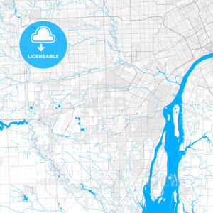 Rich detailed vector map of Taylor, Michigan, USA - HEBSTREITS Sketches