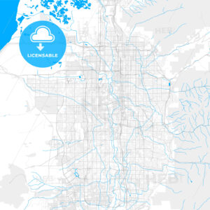 Rich detailed vector map of Taylorsville, Utah, USA - HEBSTREITS Sketches