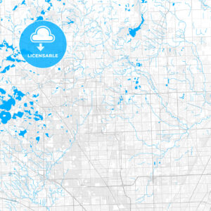 Rich detailed vector map of Troy, Michigan, USA - HEBSTREITS Sketches