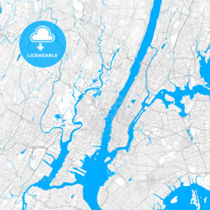 Rich detailed vector map of Union City, New Jersey, USA - HEBSTREITS Sketches