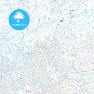 Rich detailed vector map of Vaughan, Ontario, Canada - HEBSTREITS Sketches
