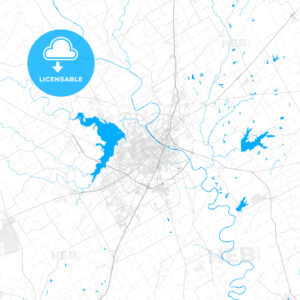 Rich detailed vector map of Waco, Texas, USA - HEBSTREITS Sketches