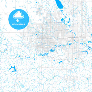 Rich detailed vector map of West Des Moines, Iowa, USA - HEBSTREITS Sketches
