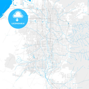 Rich detailed vector map of West Jordan, Utah, USA - HEBSTREITS Sketches