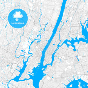 Rich detailed vector map of West New York, New Jersey, United States of America - HEBSTREITS Sketches
