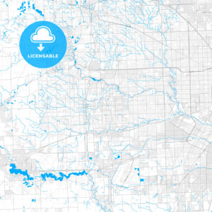 Rich detailed vector map of Westland, Michigan, USA - HEBSTREITS Sketches