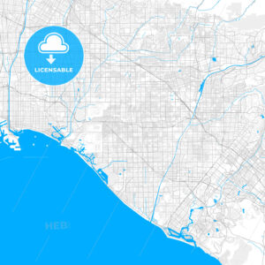 Rich detailed vector map of Westminster, California, USA - HEBSTREITS Sketches
