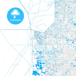 Rich detailed vector map of Weston, Florida, USA - HEBSTREITS Sketches