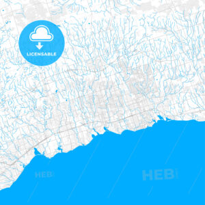 Rich detailed vector map of Whitby, Ontario, Canada - HEBSTREITS Sketches