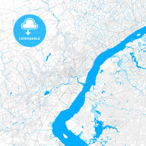 Rich detailed vector map of Wilmington, Delaware, USA - HEBSTREITS Sketches