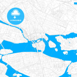 Stockholm, Sweden bright two-toned vector map