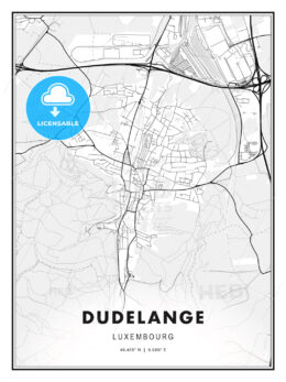 Dudelange, Luxembourg, Modern Print Template in Various Formats