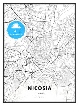 Nicosia  , Cyprus, Modern Print Template in Various Formats