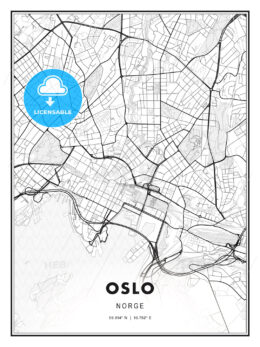 Oslo, Norway, Modern Print Template in Various Formats