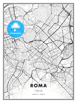 ROMA / Rome, Italy, Modern Print Template in Various Formats