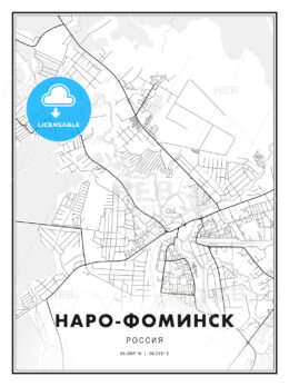 НАРО-ФОМИНСК / Naro-Fominsk, Russia, Modern Print Template in Various Formats