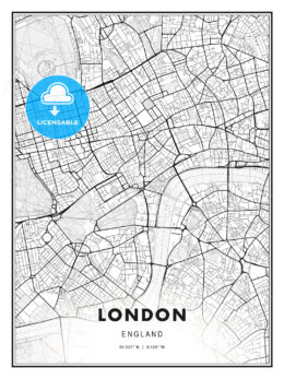London, England, Modern Print Template in Various Formats