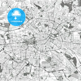 High Quality Vector Toner Map of Berlin - HEBSTREITS Sketches