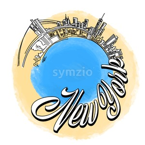New York City travel Logo Stock Vector