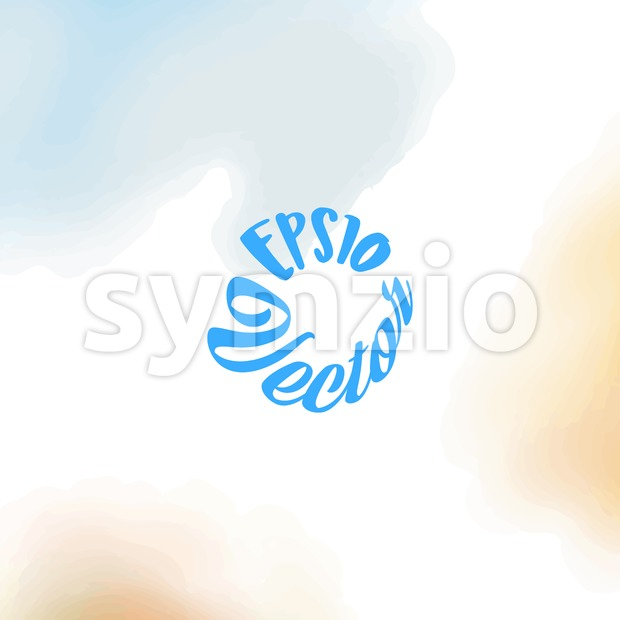 Hand painted vector Watercolor Background. abstract sky and ground illustration.