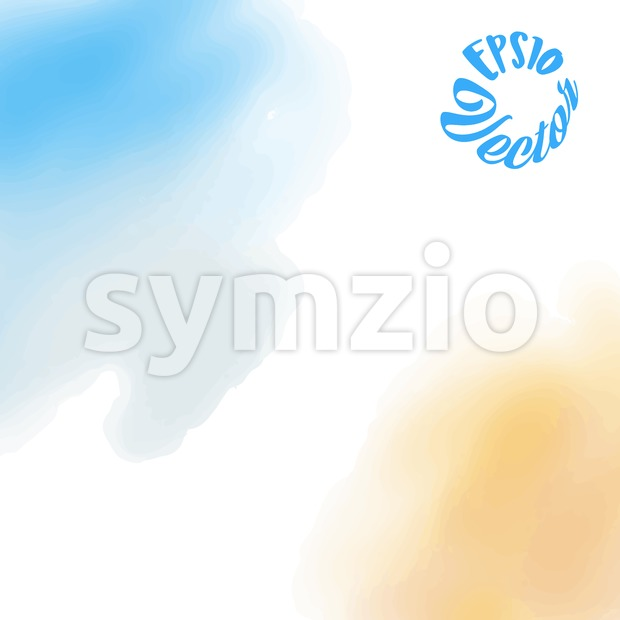 Two tones watercolor background Stock Vector