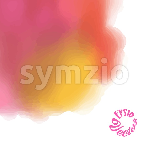 Beautiful vector watercolor background Stock Vector