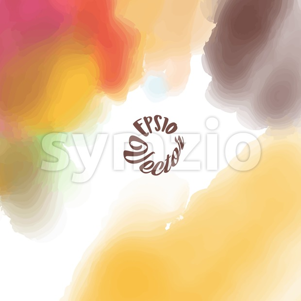 Yellow Brown watercolor background Stock Vector