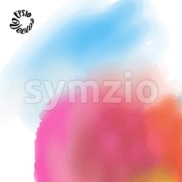 Pink and Blue watercolor background Stock Vector