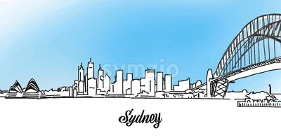 Sydney Vector Panorama Banner Stock Vector