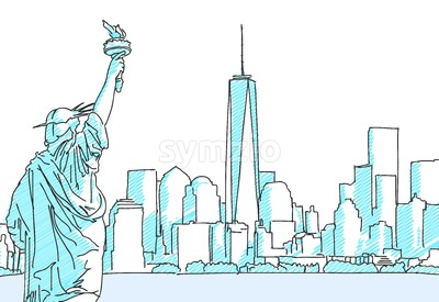 New York Cityscape Sketch Stock Vector