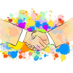 Business Handshake with Colorful Background Stock Vector